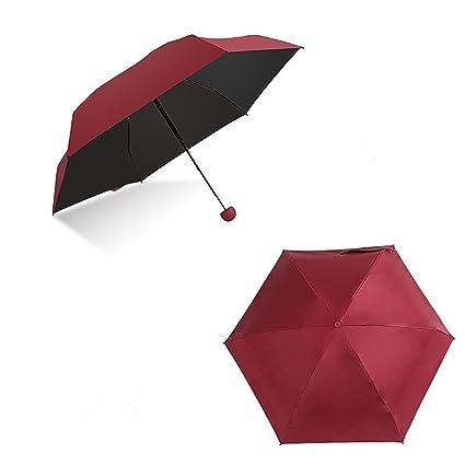 icase4u® Original Paraguas Sombrilla Portátil en Forma de Mini cápsulas Anti-UV (Rojo): Amazon.es: Deportes y aire libre
