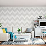 Chevron Vertical Stencil Template - Reusable Wall Stencil with Multiple Sizes Available