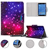 Universal Case for 9-10.5 inch Tablet, Newshine Stand Folio Case Protective Cover for 9' 10.1' Touchscreen Tablet, with Multiple Viewing Angles, Card/Cash Pocket - Purple Twinkle