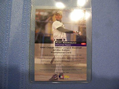 Classic 1994 Alex Rodriguez Minor League Baseball Promotional Card All Star Edition CB1