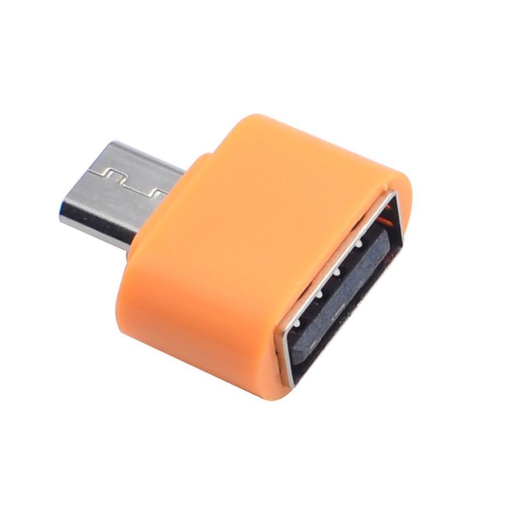 chezaaアダプタ、Micro USB to USB OTGアダプタコンバータfor Androidスマートフォン B07D8JGYMN オレンジ