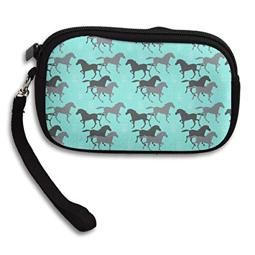 Paper Bagbag - ORASYA Portable Little Change Coin Wild Horses Wallet Purse Universal Carrying Case for Credit Card USB Charger Cable Keys Tissue Paper Lipstick Bag