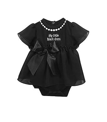 Amazon.com: Stephan bebé poco vestido negro colección ruffle ...