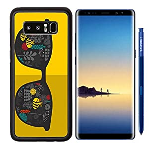 MSD Premium Samsung Galaxy Note8 Aluminum Backplate Bumper Snap Case IMAGE ID: 31108118 Retro sunglasses with reflection for hipster Vector illustration of accessory glasses isolated Best print for