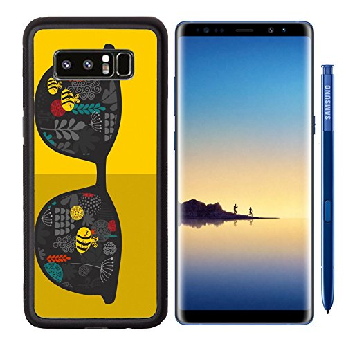 MSD Premium Samsung Galaxy Note8 Aluminum Backplate Bumper Snap Case IMAGE ID: 31108118 Retro sunglasses with reflection for hipster Vector illustration of accessory glasses isolated Best print - Clipart Sunglasses