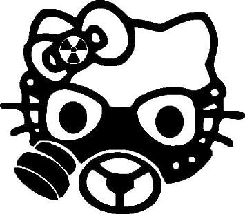 a36fa6590 1 x 2 Plott Gasmask Sticker Hello Kitty Sticker Biohazard Gas Mask-Gas Mask:  Amazon.co.uk: Car & Motorbike