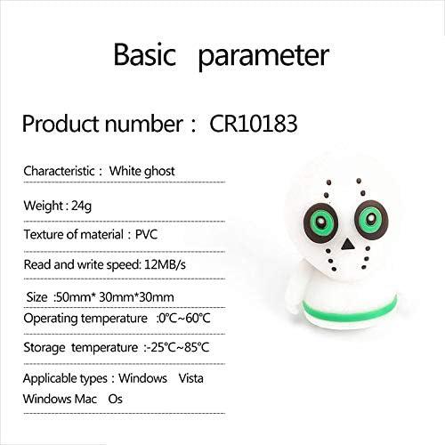 Topdo 2GB//4GB//8GB//16GB//32GB Portable USB PVC Mini White Ghost Shaped Creative Flash Memory Stick Storage Thumb U Disk-16GB