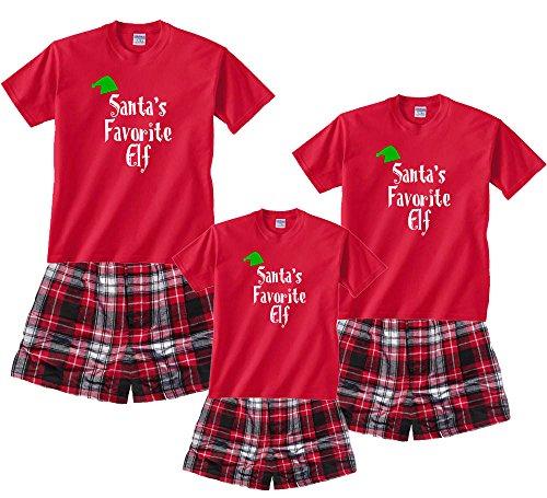 Santa's Favorite Elf Red Shirt Boxer Set -