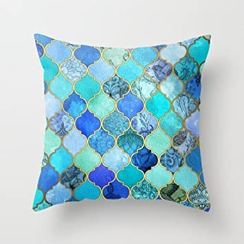 Amazon Com Euro Style Throw Pillow Case 16 X 16 Inches 40 By 40