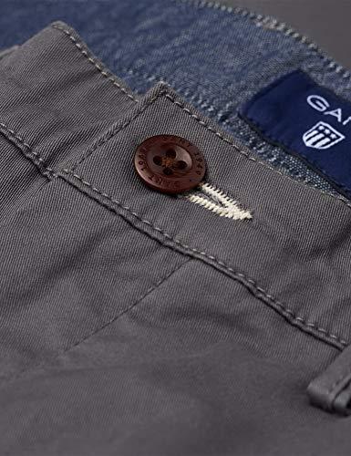 Slim Asphalt Pantalones Twill Chino Hombre Gant Para 36 1wHx1q