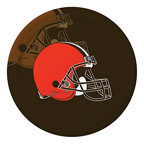 Creative Converting 96 Count Paper Dinner Plates, Cleveland Browns