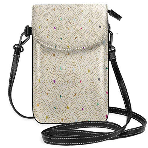 Small Cell Phone Purse Crossbody Cellphone Shoulder Bag Serendipity Jewels Gold Smartphone Wallet Purse with Removable Strap ()