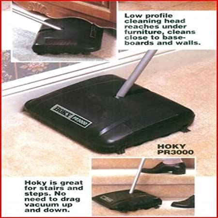 Grey 12-1//2 Cleaning Path HOKY PR3000 Sweeper with Rubber Rotor 12-1//2 Cleaning Path