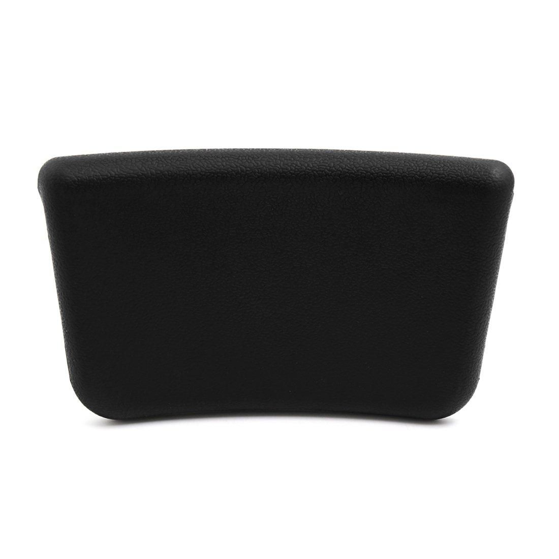 uxcell 9.8 Inch x 6 Inch Foam Bath Spa Pillow Cushion for Hot Tub w/Suction Cup Black