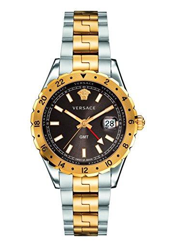 Versace Men's 'HELLENYIUM GMT' Swiss Quartz Stainless Steel Casual Watch (Model: - Model Male Versace
