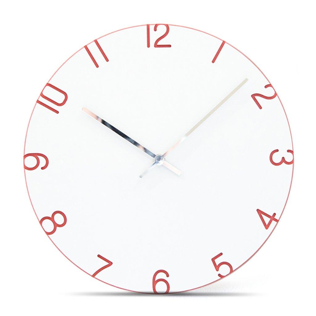 サイレントスイープの壁時計、現代のシンプルな時計ローマ数字12インチのMDF材料のリビングルームとベッドルーム,I B07D6MBBYR I I