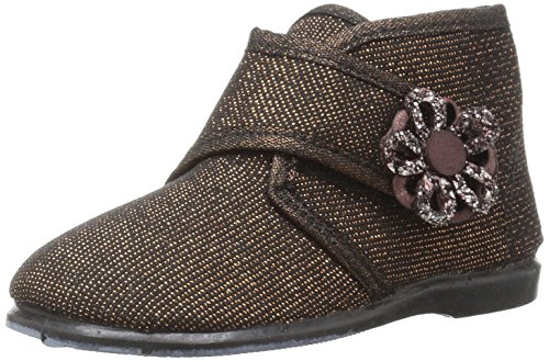 Cienta Kid's 108011 Girls Slipper Gold with Floral Gem Detail 6 M US Toddler (100 Gem Gold Soles)