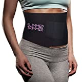 "Slimmer Trimmer PREMIUM Waist Trimmer - Weight Loss Sweat Belt Waist Trainer for Women & Men (L/XL to 51"") Adjustable Thermal Stomach Slimming Wrap. Belly Fat Burner, Abdominal and Lower Back Support"