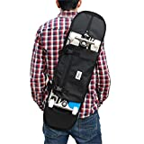 Backpack, shoulder bag for 7.5 and 8.5 inches skateboard. Black