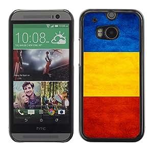 YOYO Slim PC / Aluminium Case Cover Armor Shell Portection //Romania Grunge Flag //HTC One M8