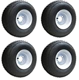 Slasher 18x8.50-8 GTX OEM Golf Cart Wheels and Golf Cart Tires Combo - Set of 4