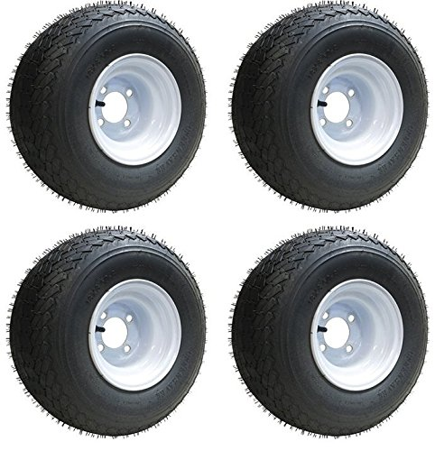 Slasher 18x8.50-8 GTX OEM Golf Cart Wheels and Golf Cart Tires Combo - Set of 4 by Golf Cart Tire Supply