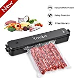 Vacuum Sealer Machine, Compact Vacuum Sealer with Automatic Vacuum Sealing System, Two Models for Vacuum and Seal Only for Food Preservation with 20pcs Bags, Black