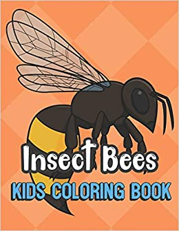 Insect Bees Kids Coloring Book Realistic Bee Cover Color Book For Children Of All Ages Green Diamond Design With Black White Pages For Mindfulness And Relaxation Publishing Greetingpages 9781695395961 Amazon Com Books