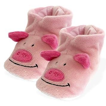 Peluches Cel - Zapatillas Cerdo de Peluche, Color Rosa (MAE 256cerdo)
