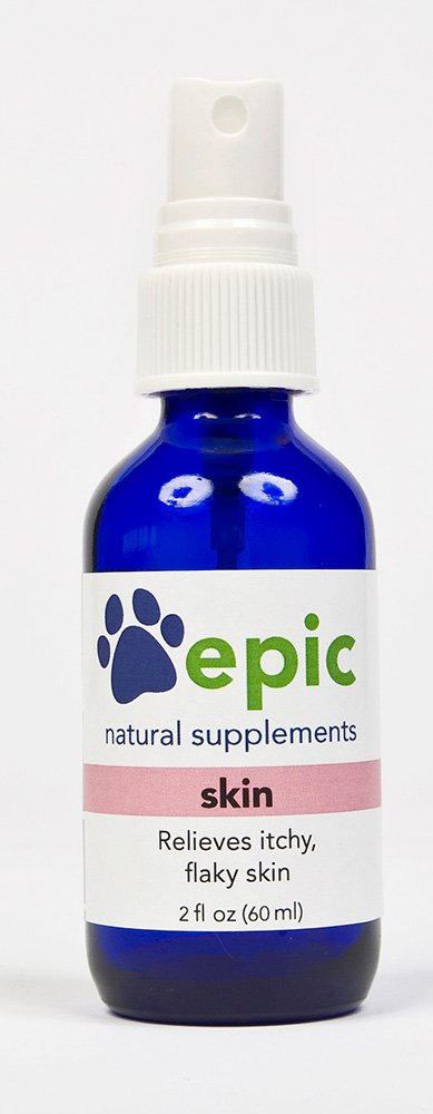 Skin - Relieves Itchy, Flaky Skin Naturally (Spray, 2 Ounce) by Epic Pet Health