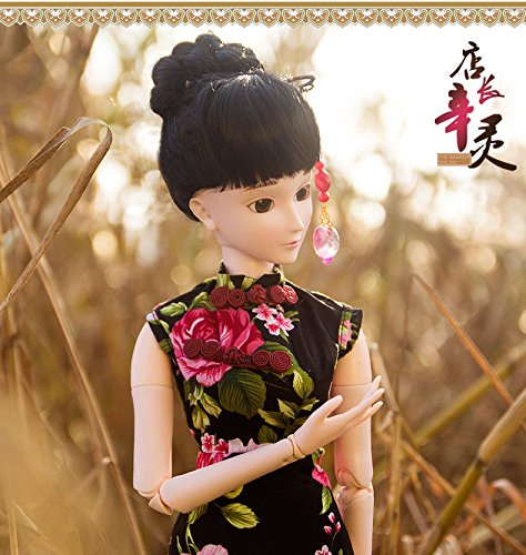Chinese Cheongsam Donna 1/3 SD Doll 60cm 24'' Ball Jointed BJD Dolls Full Set Reborn Toy SD Surprise Doll by EVA BJD (Image #3)