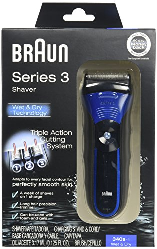 new braun series 3 340s wet dry electric shaver free. Black Bedroom Furniture Sets. Home Design Ideas