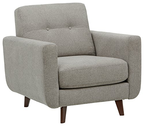 Rivet Tufted Accent Chair, Pebble - Sloane Mid-Century Modern