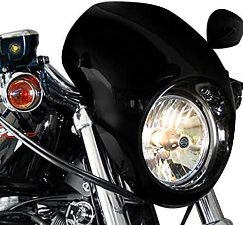 Scheinwerfer Frontmaske Kompatibel Für Harley Davidson Dyna 2005 Sportster 95 20 Schwarz Auto