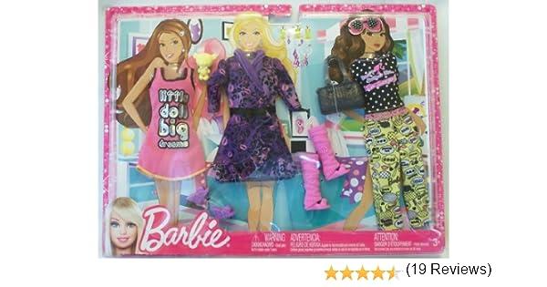 Amazon.es: Barbie Fashionistas Big Dreams Sleepwear Fashion Pack: Juguetes y juegos