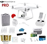 DJI Phantom 4 PRO Quadcopter Drone with 1-inch 20MP 4K Camera KIT, with Must Have Accessories and Range Extender
