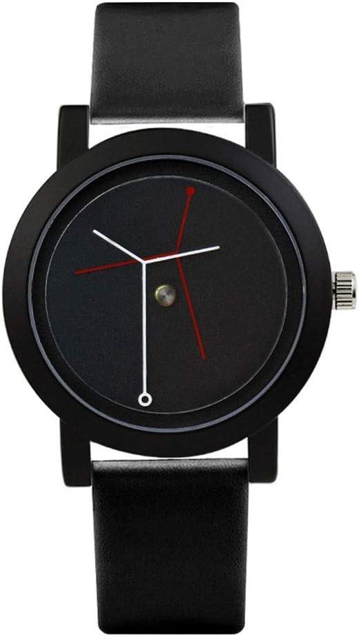 ZSLLO Vida Árbol Concepto Creativo Personalidad Marea Marca Hombres Relojes Cuero Inteligente Simple Reloj Impermeable Mujer Relojes (Color : A)