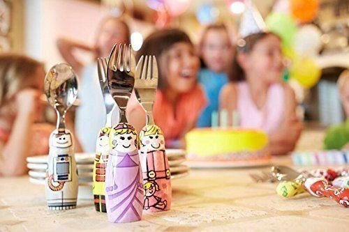 Eat4Fun Duo Collection Kids Fork & Spoon, Girl Doctor by Eat4Fun (Image #1)