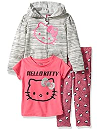 Hello Kitty girls 3 Piece Hooded Legging Set With Lurex