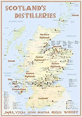 Schottland Karte Whisky.Scotland S Distilleries Whisky Karte Mit Allen Schottischen