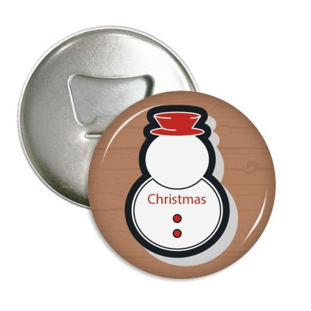 Navidad muñeco de nieve Navidad icono redondo abridor de botellas ...