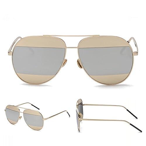 Z&YQ Lunettes de soleil stries demi-mercure mixte lunettes de soleil de couleur