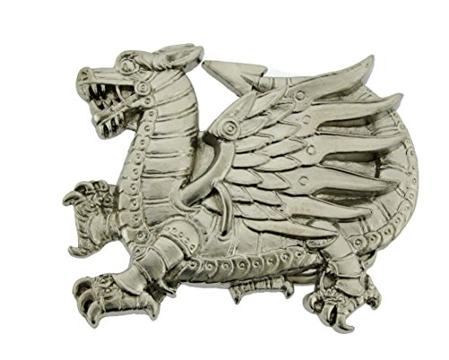(Chinese New Year China Dragon Belt Buckle White Men Women New Gift)