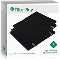3 - FilterBuy Honeywell A Pre-Filter Replacement Carbon Filters, HRF-AP1. Designed by FilterBuy to fit Honeywell Round, QuietCare & SilentComfort Air Purifiers.