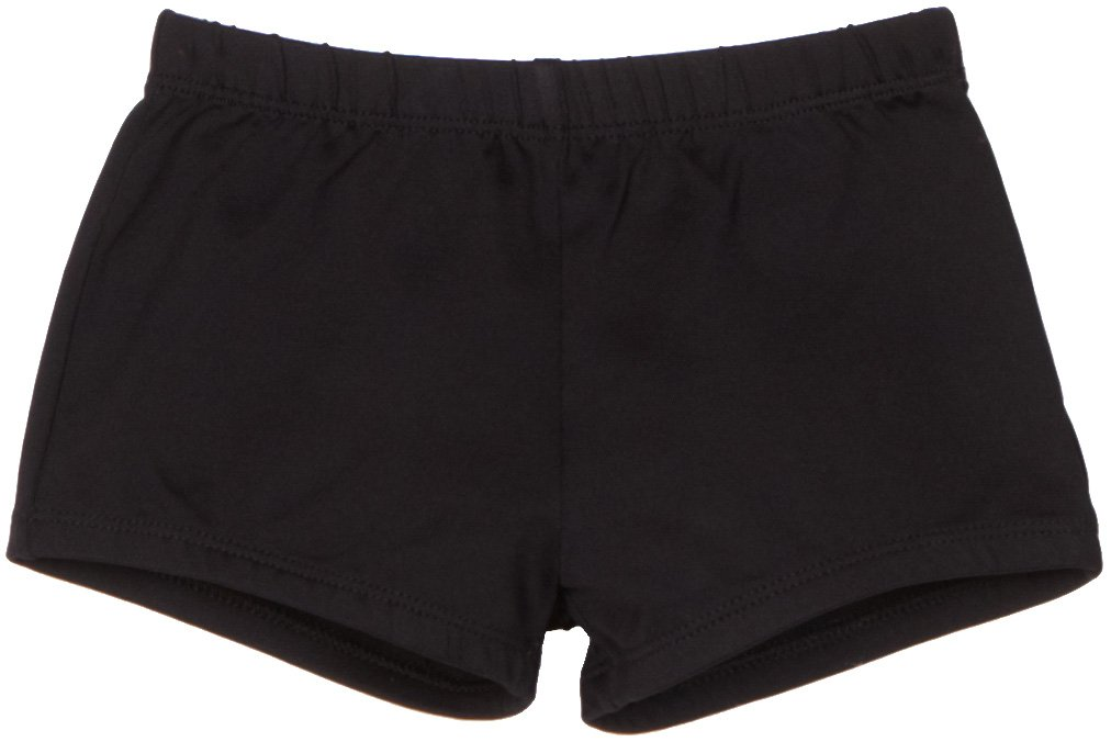 Danskin Big Girls' Boy Cut Short, Black, Large