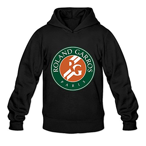 Leberts Black French Open Tennis 2016 Long Sleeve Hoodies For Men Size Large