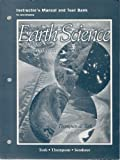Earth Science and the Environment : Instructor's Manual and Test Bank to Accompany, Thompson and Turk, Judy Vanslyke, 0030214696