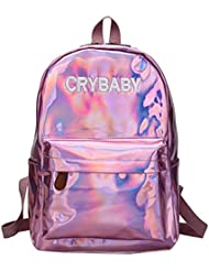 Felice Holographic Laser Backpack Medium Size Casual Travel Backpack School Bag