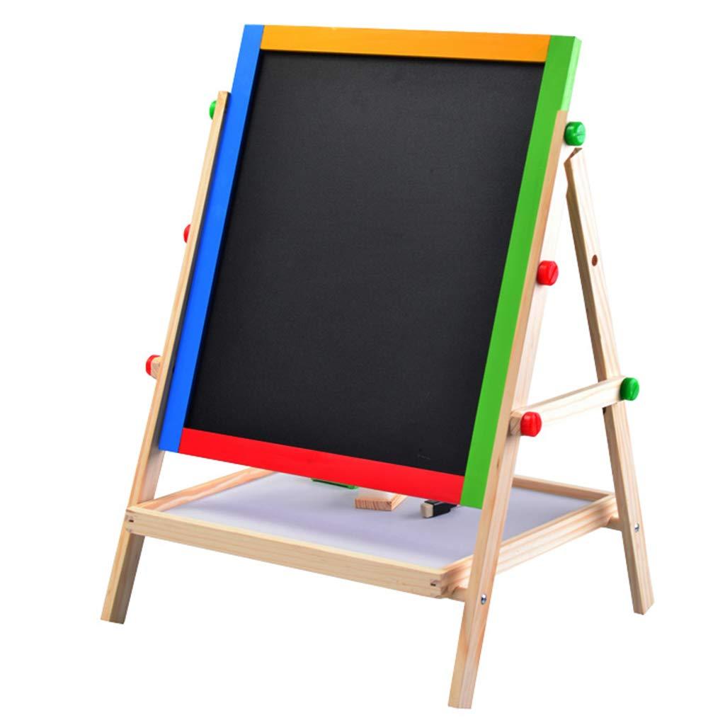 ペインティングボード – ソリッド木製 子供用お絵かきボード 上下イーゼル 両面磁気 小型 黒板 ブラケット ペインティングボード   B07LCJJF78