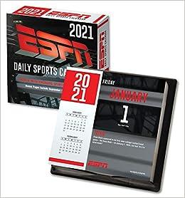 Espn 2021 Box Calendar Lang Companies 0841622139842 Amazon Com Books